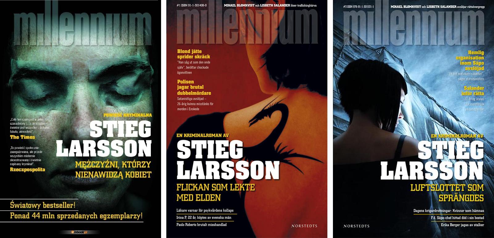 Znalezione obrazy dla zapytania stieg larsson millenium